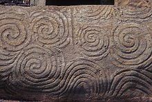 Newgrange Entrance Spirals